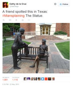 mansplaining statue