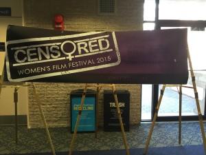 Censored Women's Film Festival Sign GWU