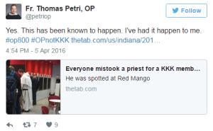 dominican priest tweet