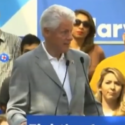 image via screenshot of Bill Clinton at Hillary Clinton rally from YouTube