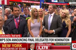 image screenshot via CNN RNC convention announcement of trump nomination