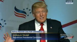 Donald Trump at Road to Majority Conference 2016 image screenshot from CSPAN video