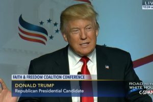 Donald Trump at Road to Majority Conference 2016 image screenshot from CSPAN video