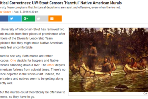 image screenshot of Reason article on UW-Stout Native American paintings