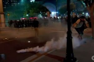 image screenshot from CNN video coverage of Charlotte riots September 2016