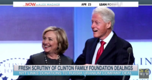 image screenshot from MSNBC video of Clinton Foundation segment