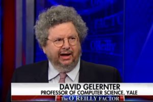 image screenshot from Fox News video of Prof. Gelernter's appearance on O'Reilly Factor